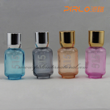 50ml Empty travel perfume atomizer glass spray bottles different color for options round sanitizer spray bottles