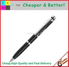 2015 Cheap metal pen logo printed promotional brand metal pen