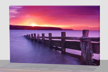 Offshore extension ladder landscape LED Lighted Canvas Wall Art