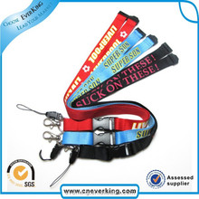 High quality newest design heat transfer silk printing lanyard for gifts