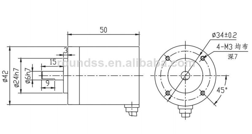angle measurement position sensor single