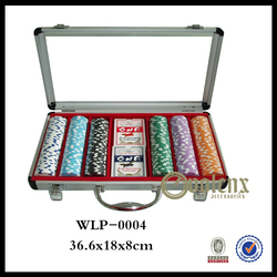 Exquisite Christmas Gift Aluminum Poker Chip Set with Roulette