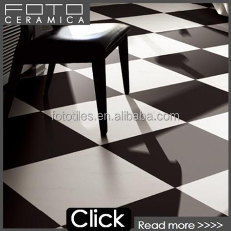 슈퍼 흰색과 검은 색 60x60 광택 gres 타일 바닥 광택 타일