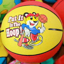 Fashionable useful promotional multicolor rubber basketball