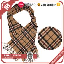 2015 Fashion colorful style printing knit scottish cashmere scarf pattern