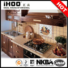 libre de pie de fábrica de china de gabinete de cocina de madera maciza