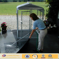 Galvanized Chain Link Mesh Hi-Rise Deck/Patio Kennel Kit