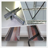 Galvanized Steel Poly Film Lock Profile/Agricultural Greenhouse Film Fastening Accessories