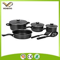 4pcs Non-stick carbon steel cooking pots and pans sets