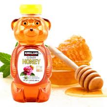 Factory sale Bear Shape Transparent 500G Plastic Honey Bottle With Aluminum / Plastic Cap