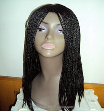 Beautiful stylist african american synthetic braided lace wig for black women