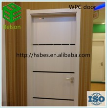WPC door from China manufactuer for bathroom &entry door glass inserts