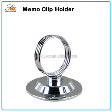 Custom High Quality Stainless Steel Memo Clip Name Card Holder