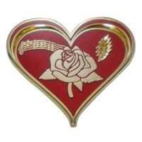 Best sale good quality custom metal red heart with American Beauty Rose pins
