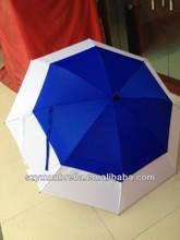 blue and white golf umbrella
