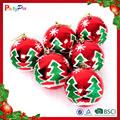 fabricamos 2015 novo design indooer grossista decoração de natal de plástico bola de natal