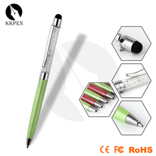 Shibell high quality twist metal ball pen slim rhinestone touch stylus pen for mobile phone