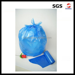 high quality clear PE draw string plastic garbage bag manufacturer