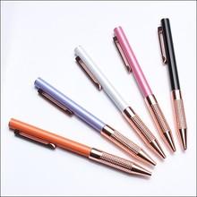 Custom high quality luxury ball pen branded printed metal pen