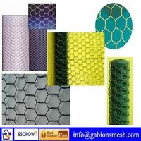 Sell galvanized hexagonal wire mesh,hexagonal green pvc coated chicken wire netting,hexagonal retaining wall wire netting