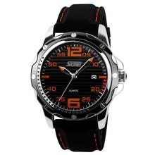 waterproof in depth silicone wristband watch,hot sale unique dial quartz watch