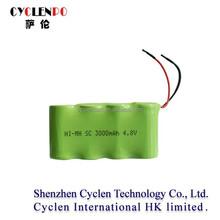 nimh sc3000 4.8v 3000mah ni-mh rechargeable battery nimh battery pack 4.8v