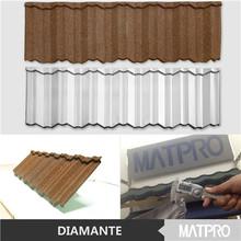 MATPRO DIAMANTE 2015 High Quality Colored Stone Coated Steel Roof Shingle