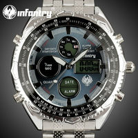 INFANTRY Brand Chronograph Digital Stainless Watch for Men