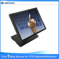 15 inch Metal Case Touch Screen Computer Resistive Touch PC All in One