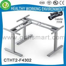 L-shaped Height adjustable desk frame&office partition with desk legs