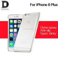 high quality for iphone 6 pc clear epoxy case