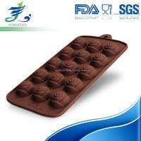 Food Grade Custom Silicone Mold, Rose Shape Silicone Chocolate Mold