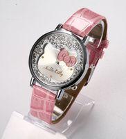 2015 Stylish Cute cartoon watches Woman girl Children quartz watch gift fashion leather Wrist Watch Christmas Gift Relogio