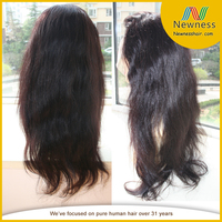 China supply top selling natural grey human hair wigs for black women
