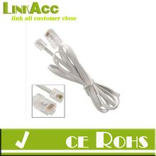 Gino Telephone RJ11 6P4C to RJ45 8P8C Connector Plug Cable