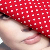 100% Cotton Dot Reactive Printing Poplin Fabric