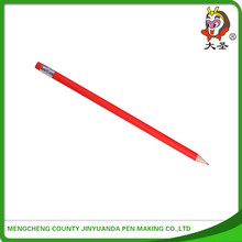 Promotional high quality fluorescent colored HB wooden pencil