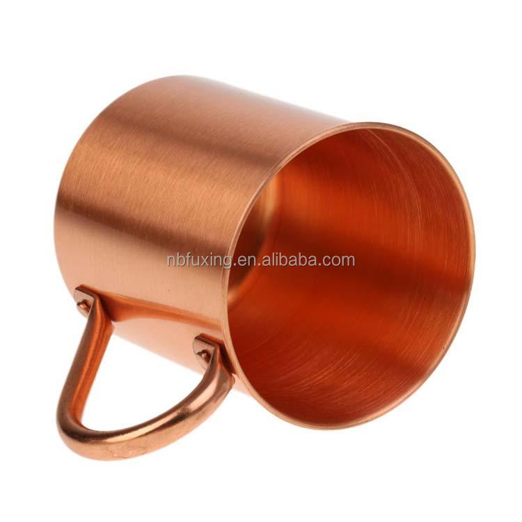 Alta calidad de cobre puro moscow mule tazas 420 ml recuerdo taza
