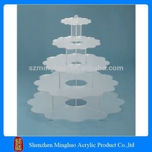 Lacery 5 tiers acrylic wedding cake topper stand, acrylic cake holder