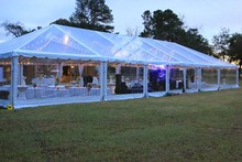 Aluminum arabic clear roof wedding tent