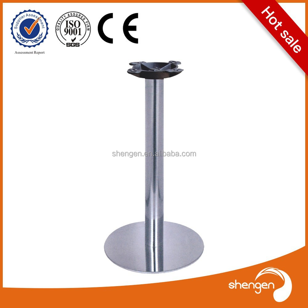 Ornate Brushed Stainless Steel Coffee Table Leg Furniture