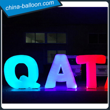 Customized event lighting inflatables/ night light inflatable led lighting letters for ground decoration