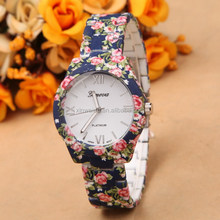 2015 New arrival high quality vogue lady fashion watch with leather strap