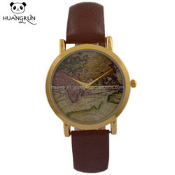 Best selling genuine leather watch quartz vintage watches men