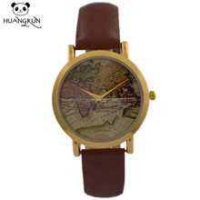 Best selling genuine leather watch quartz vintage watches men