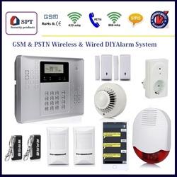gsm wireless home burglar security alarm system, cheap motion sensor, battery powered motion detector alarm