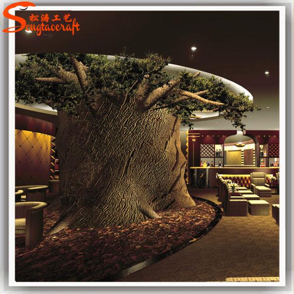 En plastique tronc d 39 arbre pour int rieure props grande artificielle d corative souche d 39 arbre - Interieur decoratie americain ...