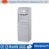 High efficiency electric hot and cold water cooler dispenser in white