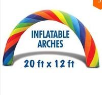 Cheap inflatable rainbow balloon arch