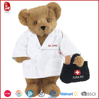 Customized stuffed hospital doctor teddy bear wholesale plush toy
